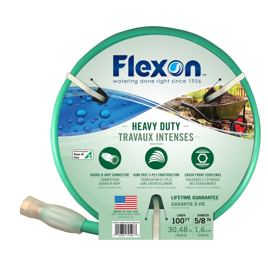 FLEXON 5/8-in x 100-ft Heavy-Duty Garden Hose