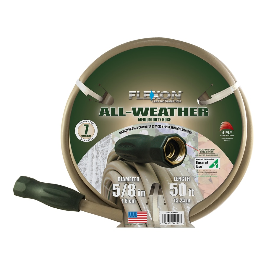 FLEXON 5/8-in x 50-ft Medium-Duty Garden Hose