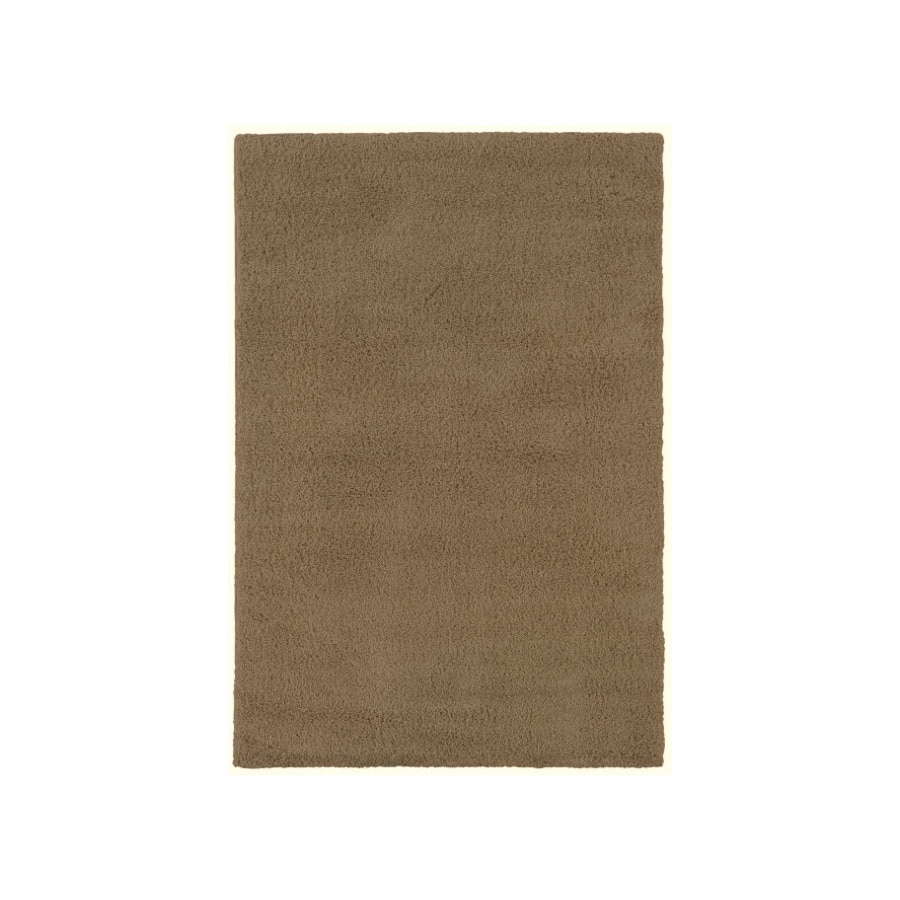 Shaw Living Shaggedy Shag Rectangular Brown Solid Tufted Area Rug (Common: 8-ft x 10-ft; Actual: 7.5-ft x 10-ft)