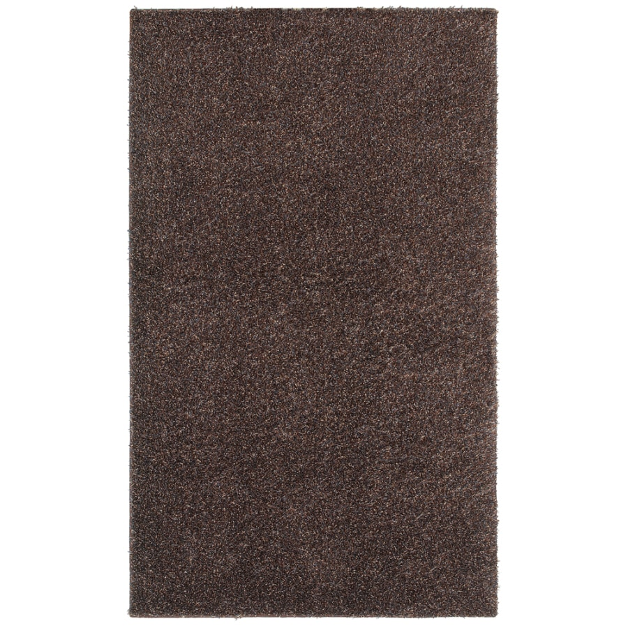 Shaw Living Shaggedy Shag Rectangular Brown Solid Area Rug (Common: 8-ft x 10-ft; Actual: 7-ft 6-in x 10-ft)
