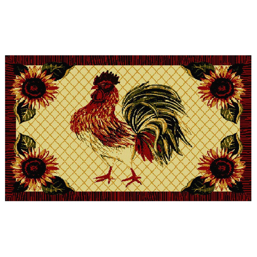 Style Selections Rectangular Tufted Throw Rug (Common: 3 x 5; Actual: 30-in W x 46-in L)