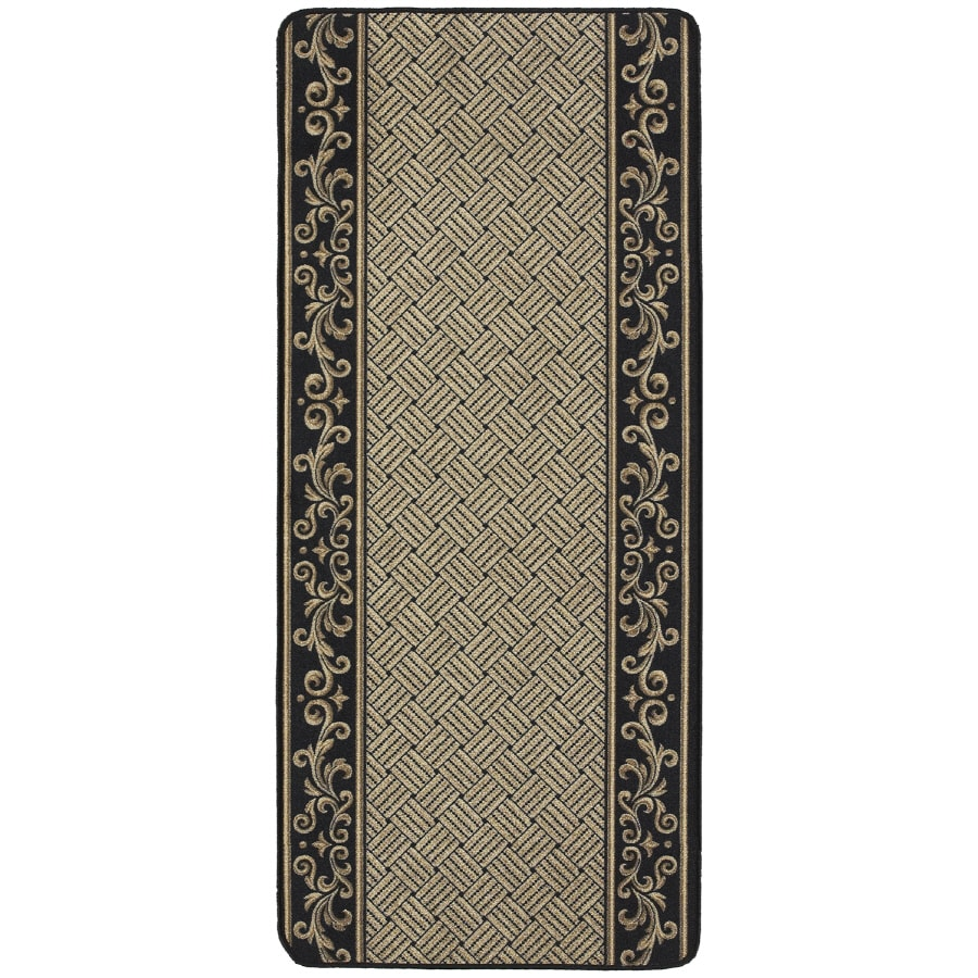 Nance Nance Carpet Black Rectangular Indoor Tufted Runner (Common: 2 x 10; Actual: 26-in W x 120-in L)
