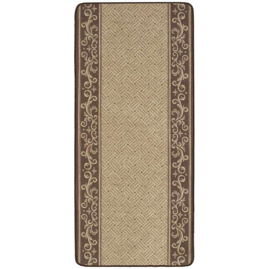 Nance Nance Carpet Brown Rectangular Indoor/Outdoor Tufted Runner (Common: 2 x 10; Actual: 26-in W x 120-in L)