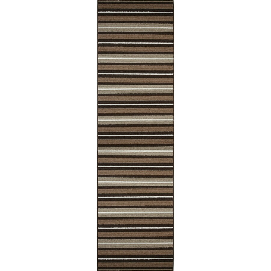 Style Selections Nance Carpet Brown Rectangular Indoor Tufted Runner (Common: 2 x 7; Actual: 27-in W x 90-in L)