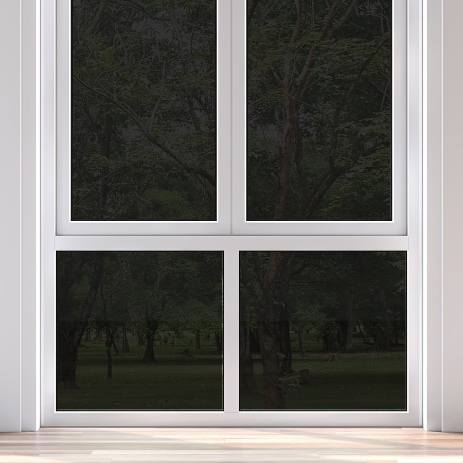 Shop gila 36 in w x 78 in l black privacy control static for Window film lowes