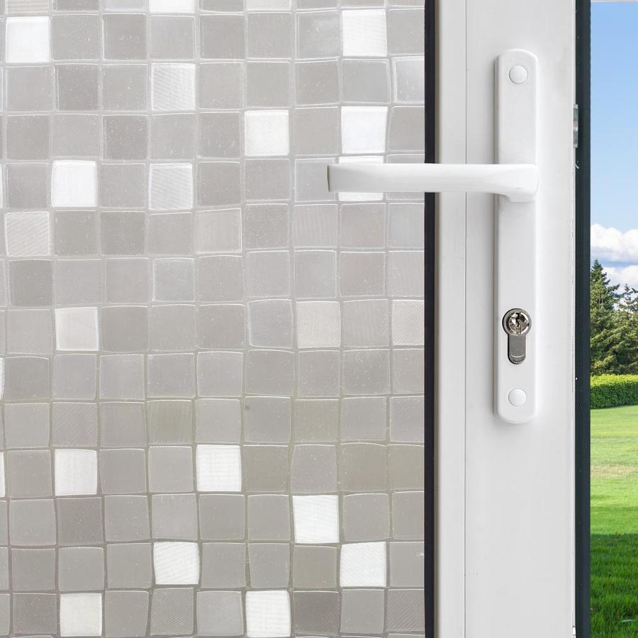 GILA 36-in W x 78-in L Translucent Mosaic Privacy/Decorative Static Cling Window Film