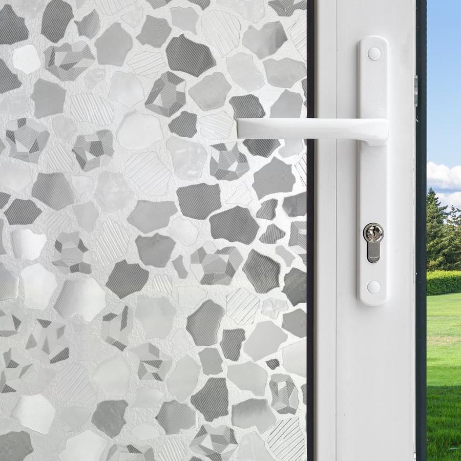 GILA 36-in W x 78-in L Translucent Sparkle Privacy/Decorative Static Cling Window Film