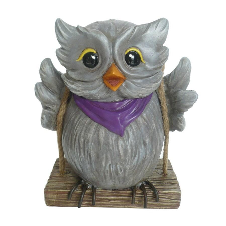 Garden Treasures 6.38-in H Owl Garden Statue
