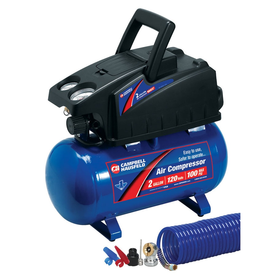 Campbell Hausfeld 2-Gallon 110-PSI 120-Volt Horizontal Portable Electric Air Compressor