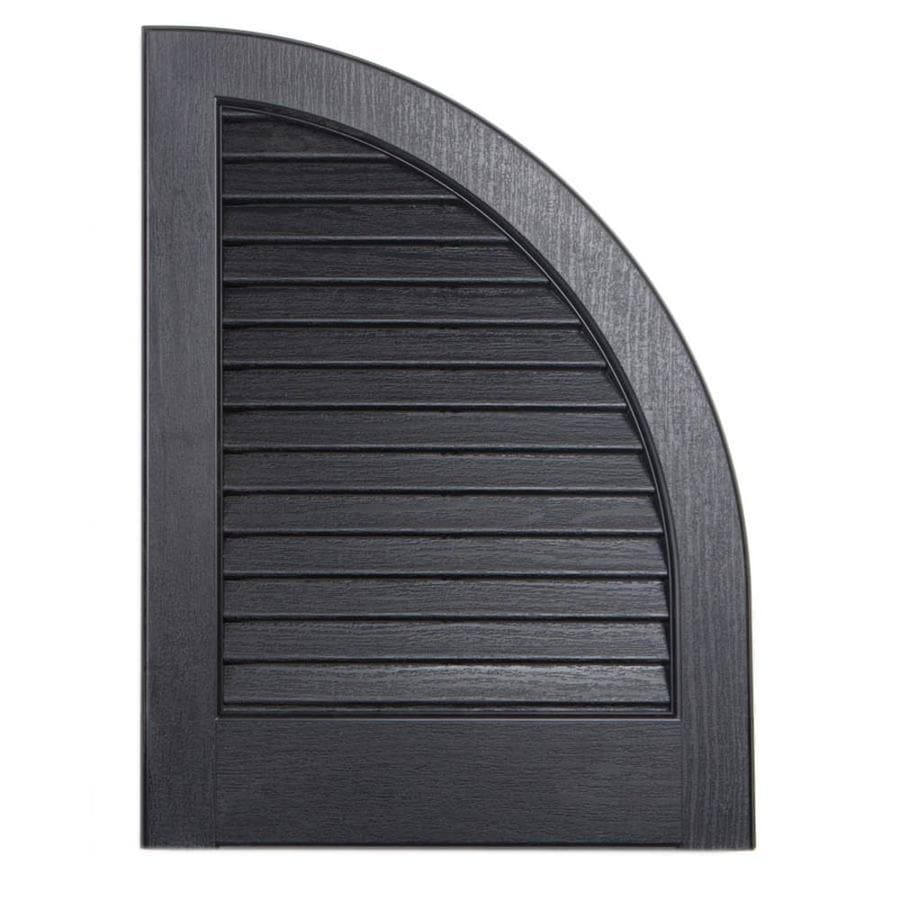 Severe Weather 2-Pack Black Louvered Vinyl Exterior Shutters (Common: 15-in x 17-in; Actual: 14.5-in x 17-in)