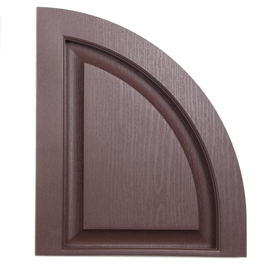 Severe Weather 2-Pack Brown Raised Panel Vinyl Exterior Shutters (Common: 15-in x 17-in; Actual: 14.5-in x 17-in)