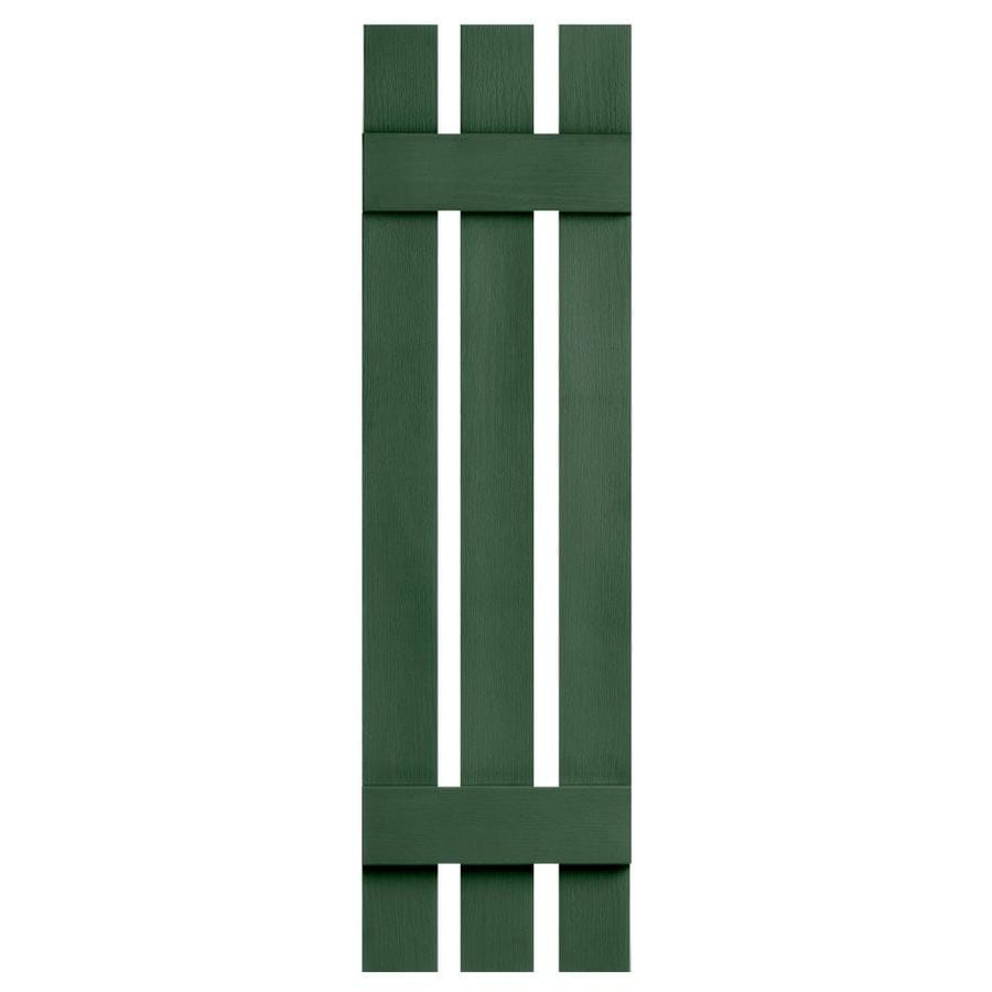 Severe Weather 2-Pack Heritage Green Board and Batten Vinyl Exterior Shutters (Common: 12-in x 31-in; Actual: 12.38-in x 31-in)