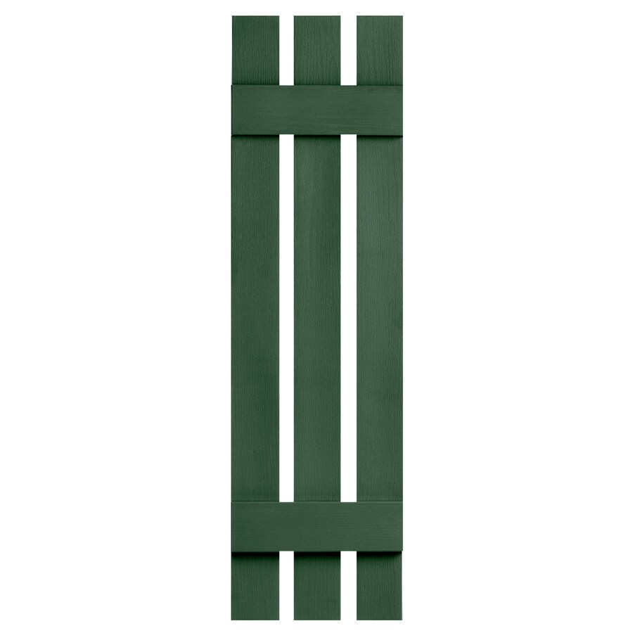 Severe Weather 2-Pack Heritage Green Board and Batten Vinyl Exterior Shutters (Common: 12-in x 35-in; Actual: 12.38-in x 35-in)