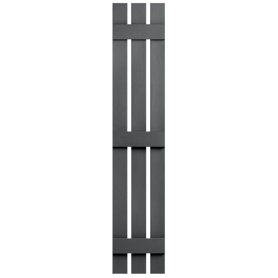 Severe Weather 2-Pack Granite Board and Batten Vinyl Exterior Shutters (Common: 12-in x 71-in; Actual: 12.38-in x 71-in)