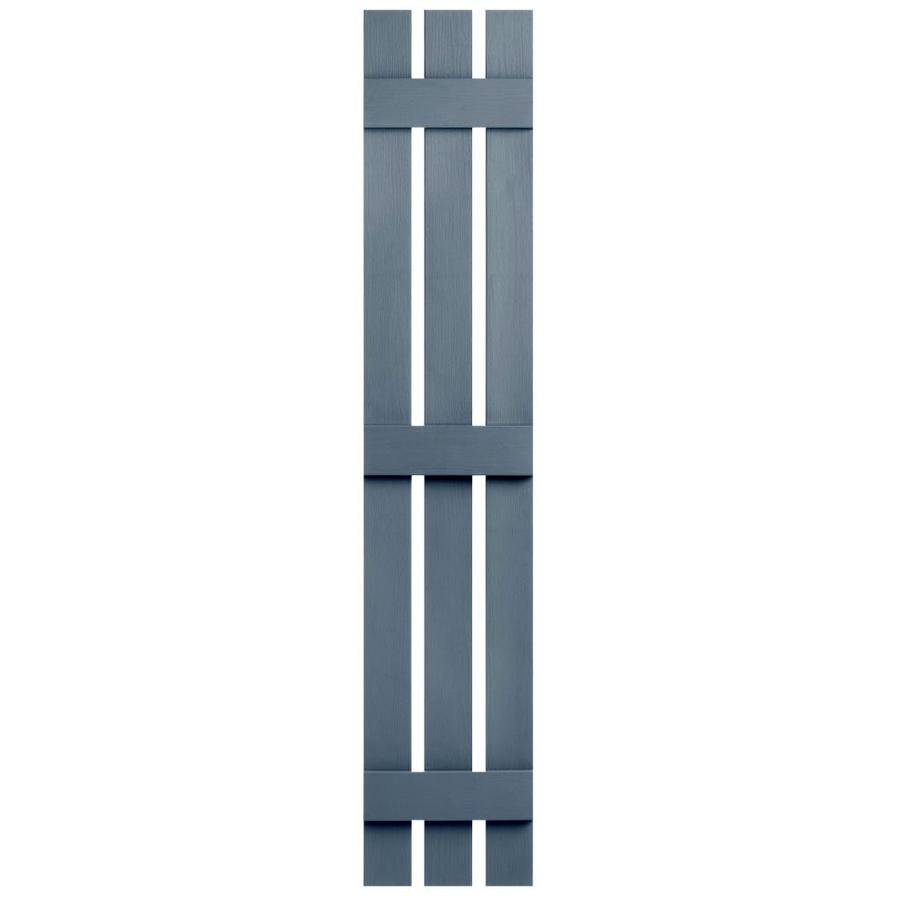 Severe Weather 2-Pack Midnight Blue Board and Batten Vinyl Exterior Shutters (Common: 12-in x 75-in; Actual: 12.38-in x 75-in)
