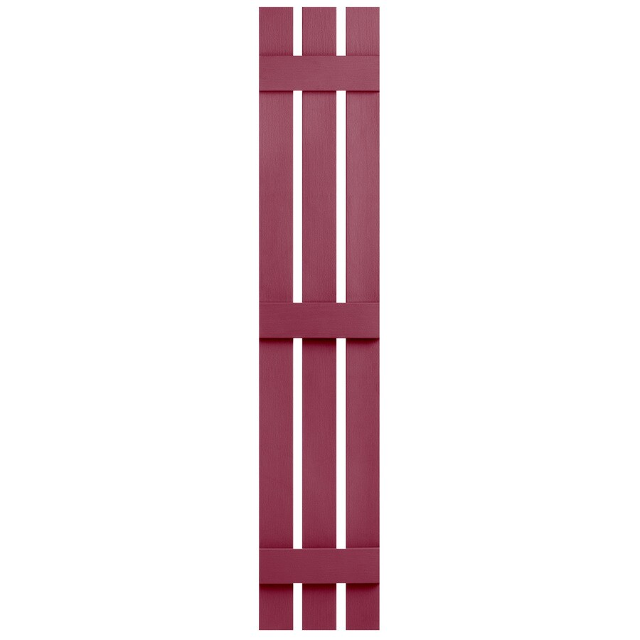 Severe Weather 2-Pack Berry Board and Batten Vinyl Exterior Shutters (Common: 12-in x 67-in; Actual: 12.38-in x 67-in)