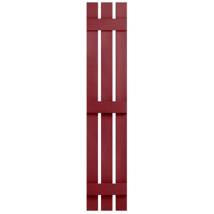Severe Weather 2-Pack Cranberry Board and Batten Vinyl Exterior Shutters (Common: 12-in x 75-in; Actual: 12.38-in x 75-in)