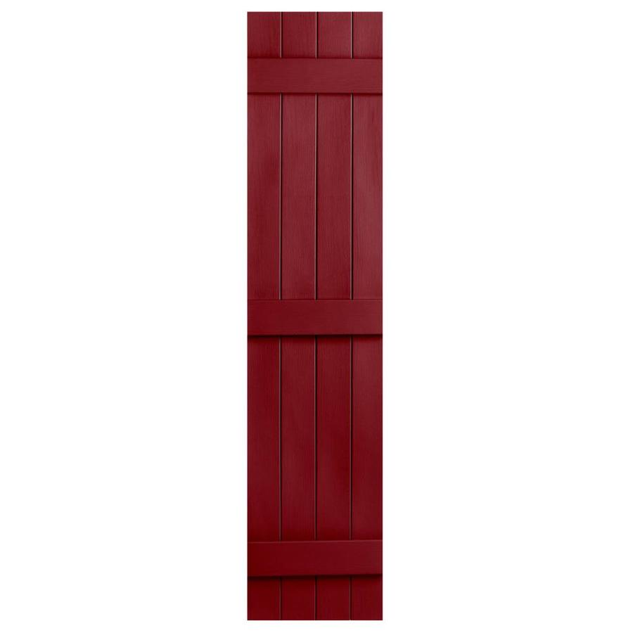 Severe Weather 2-Pack Cranberry Board and Batten Vinyl Exterior Shutters (Common: 14-in x 75-in; Actual: 14.31-in x 75-in)