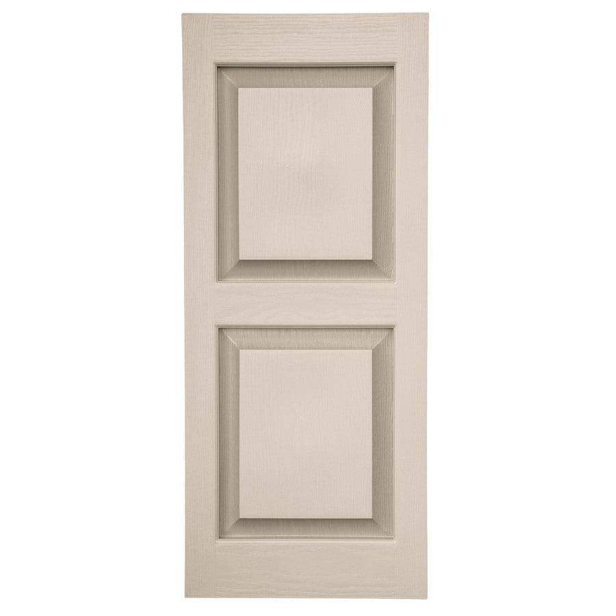 Shop Severe Weather 14 5 X 46 5 Sandstone Raised Panel Vinyl Exterior Shutters At