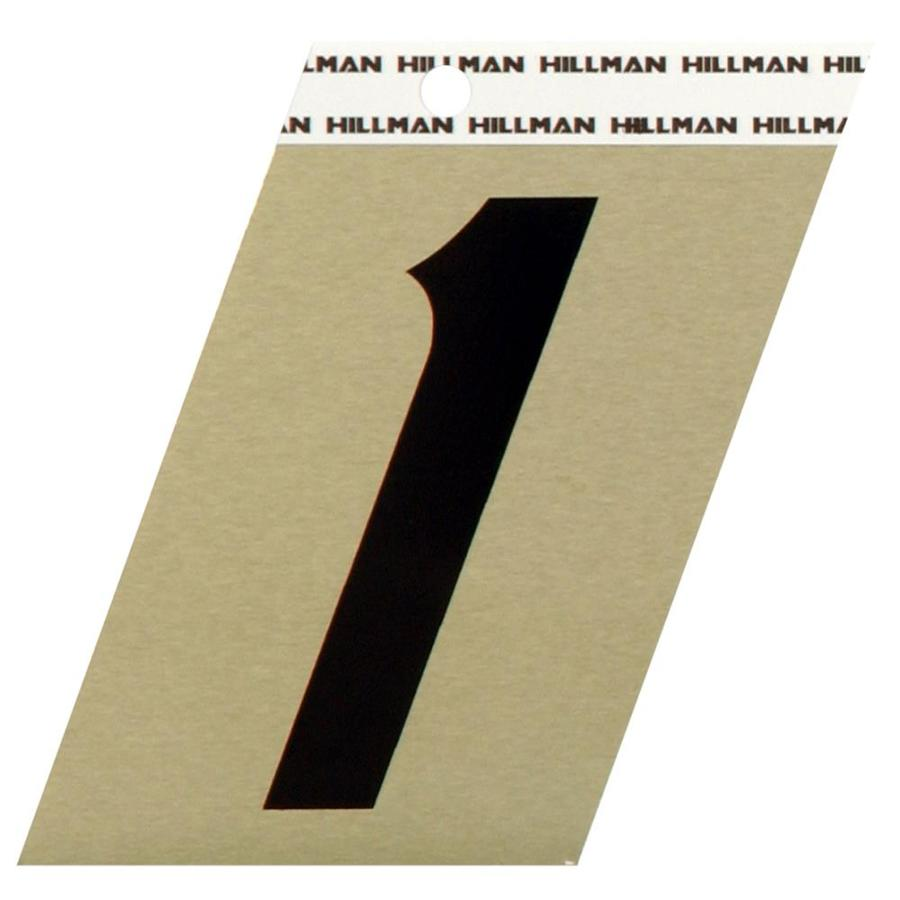 Hillman Sign Center 1.5-in Black and Gold House Number 1