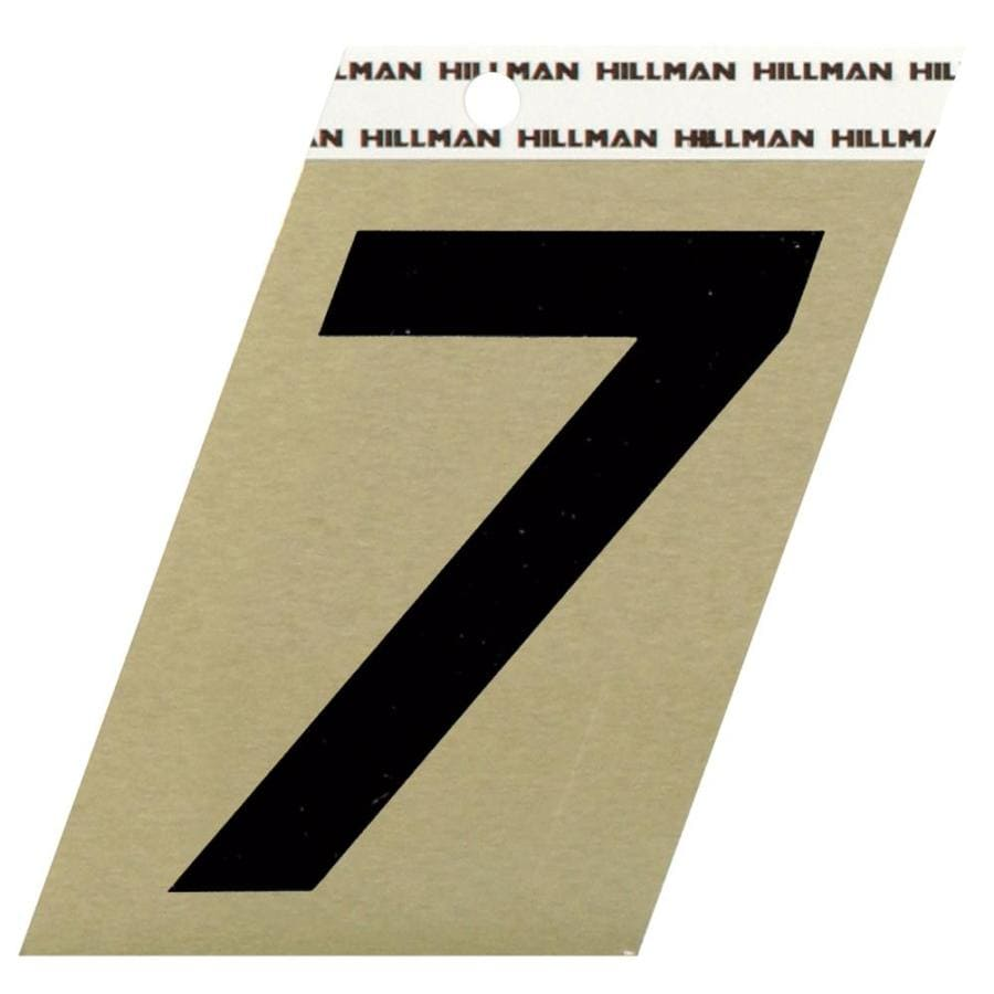 Hillman Sign Center 3-in Black and Gold House Number 7