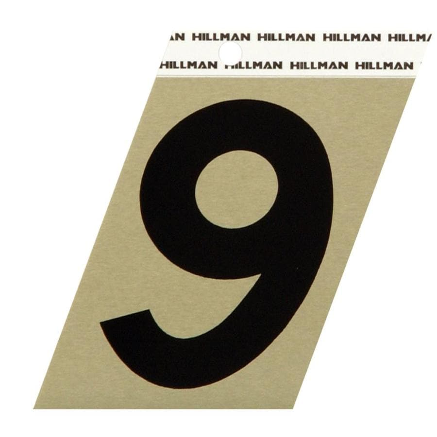 Hillman Sign Center 3-in Black and Gold House Number 9