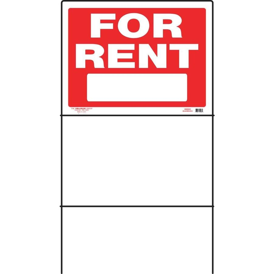 Hillman Sign Center 24-in x 18-in for Rent Sign
