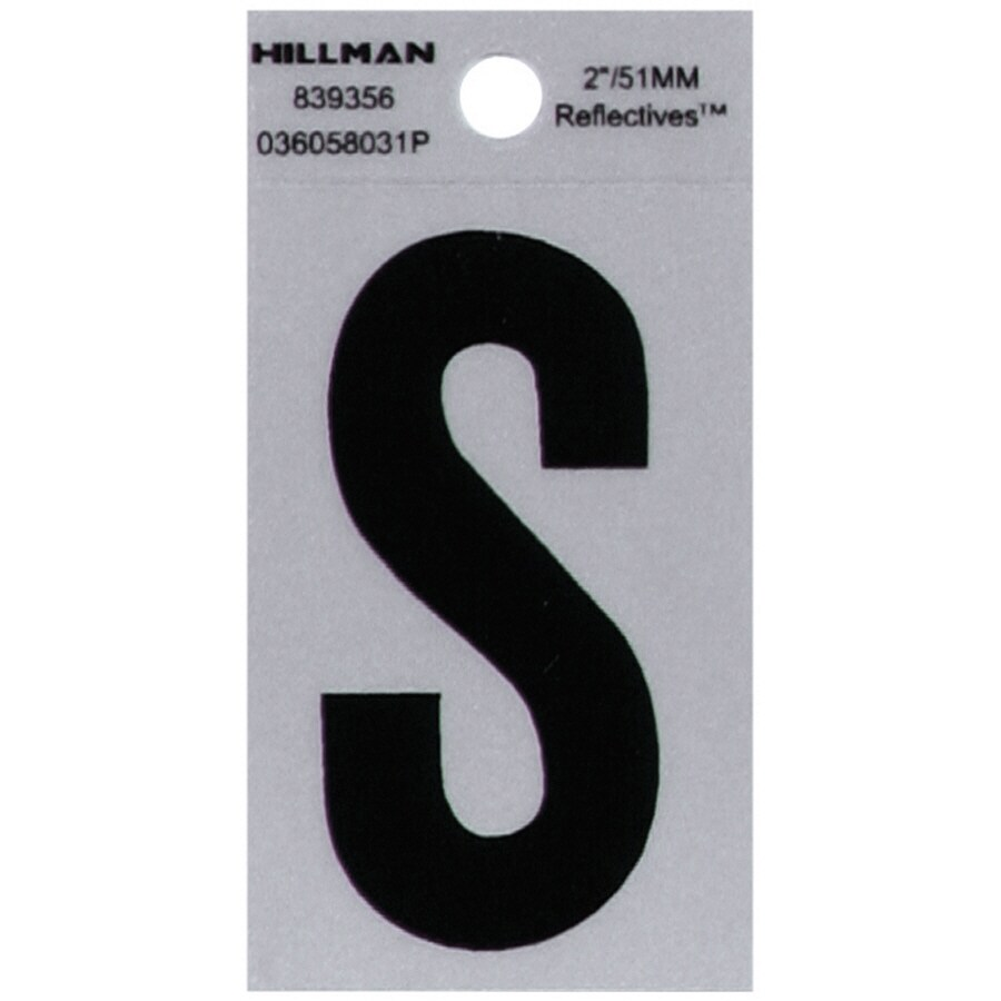 The Hillman Group 2-in Reflective Black House Letter S