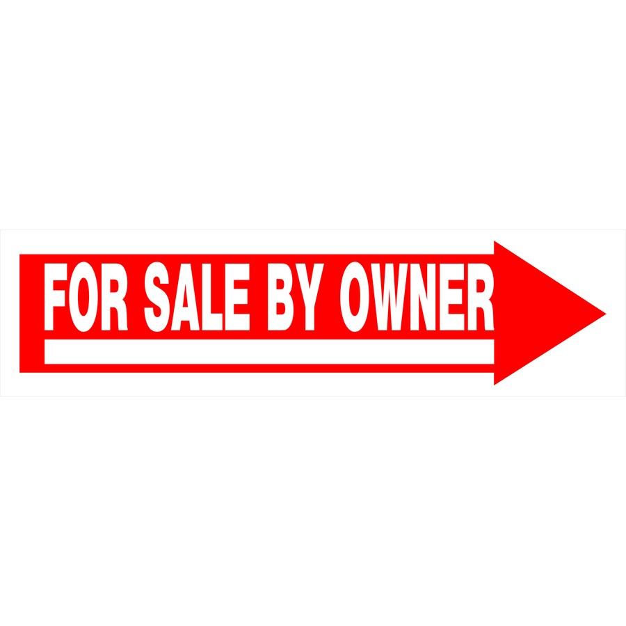 Hillman Sign Center 6-in x 24-in for Sale By Owner Sign