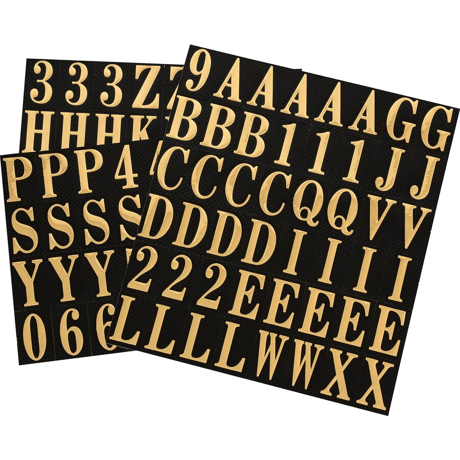 The Hillman Group 1-in Black and Gold Mylar Number and Letter Pack