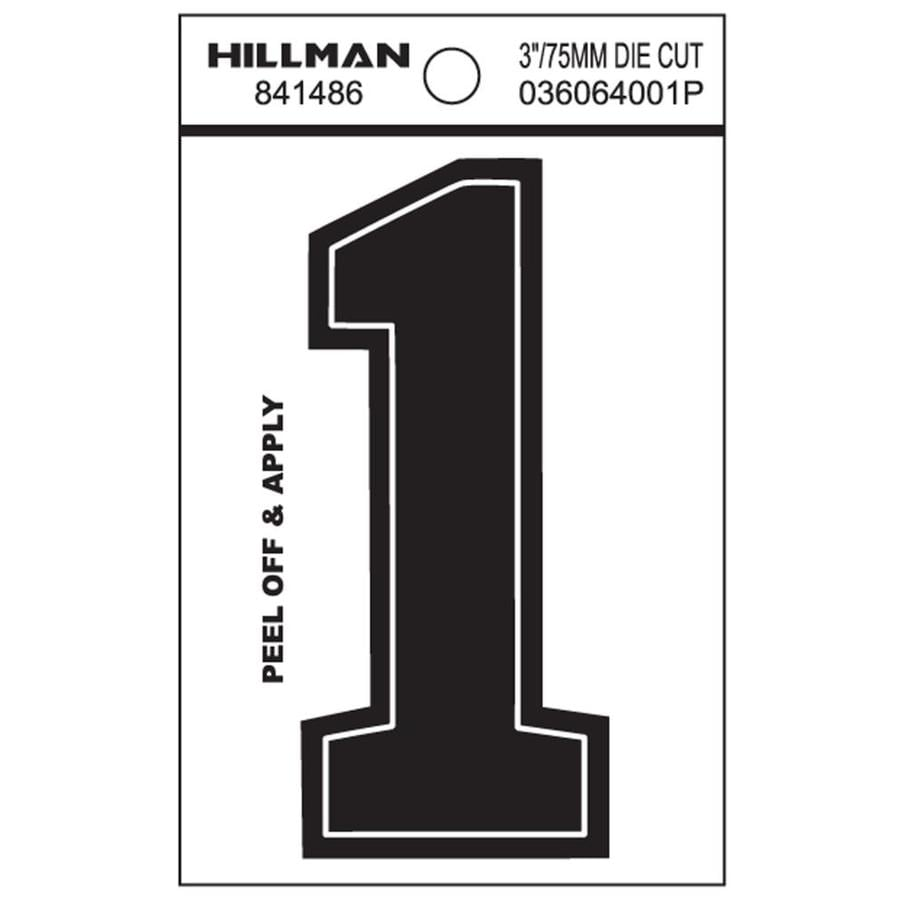 The Hillman Group 3-in Black House Number 1