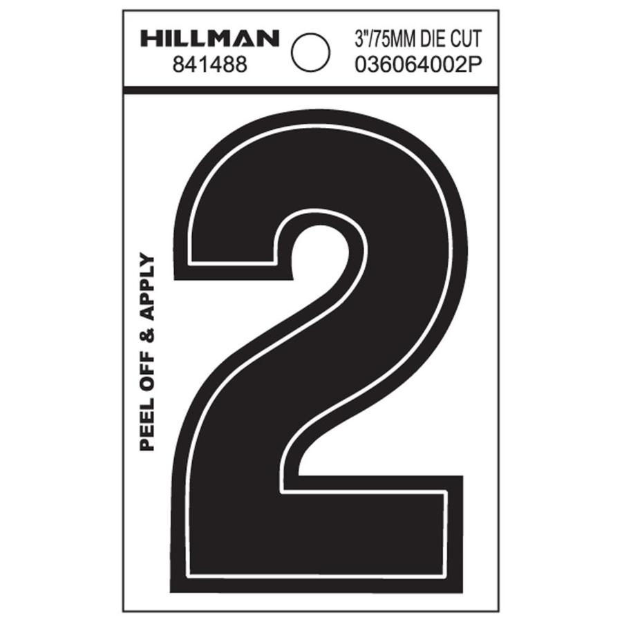 The Hillman Group 3-in x 2-in Number 2 Sign