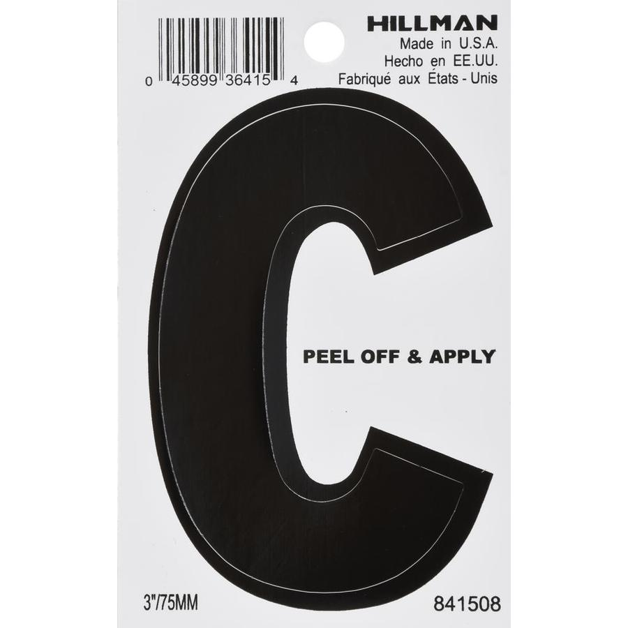 The Hillman Group 3-in Black House Letter C