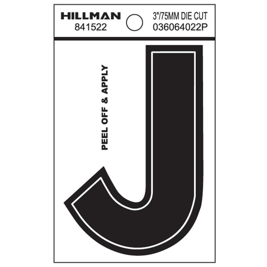 The Hillman Group 3-in Black House Letter J