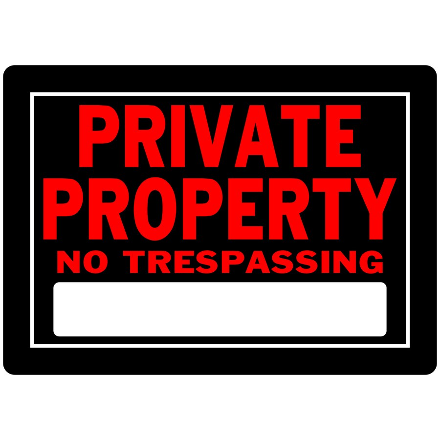 The Hillman Group 10-in x 14-in Private Property Sign