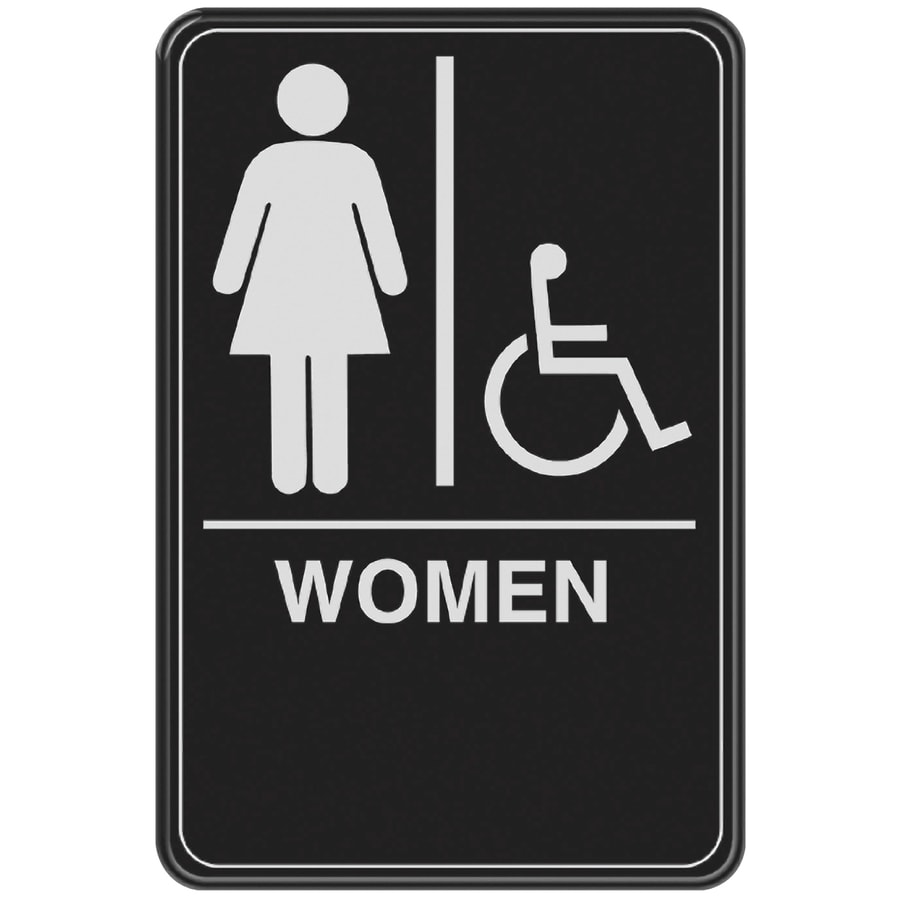 The Hillman Group 6-in x 9-in Women Handicap Accessible Restroom Sign