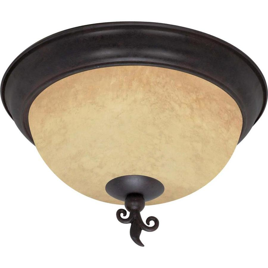 15-in W Old Bronze Ceiling Flush Mount Light