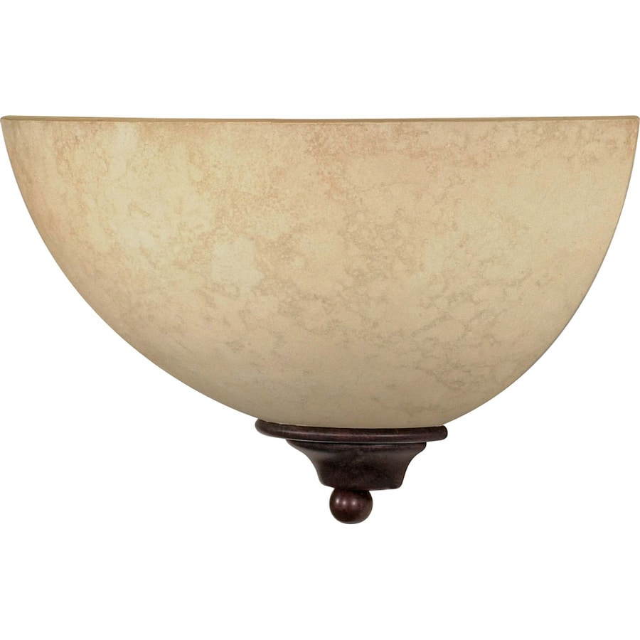 Tapas 13.5-in W 1-Light Old Bronze Pocket Wall Sconce