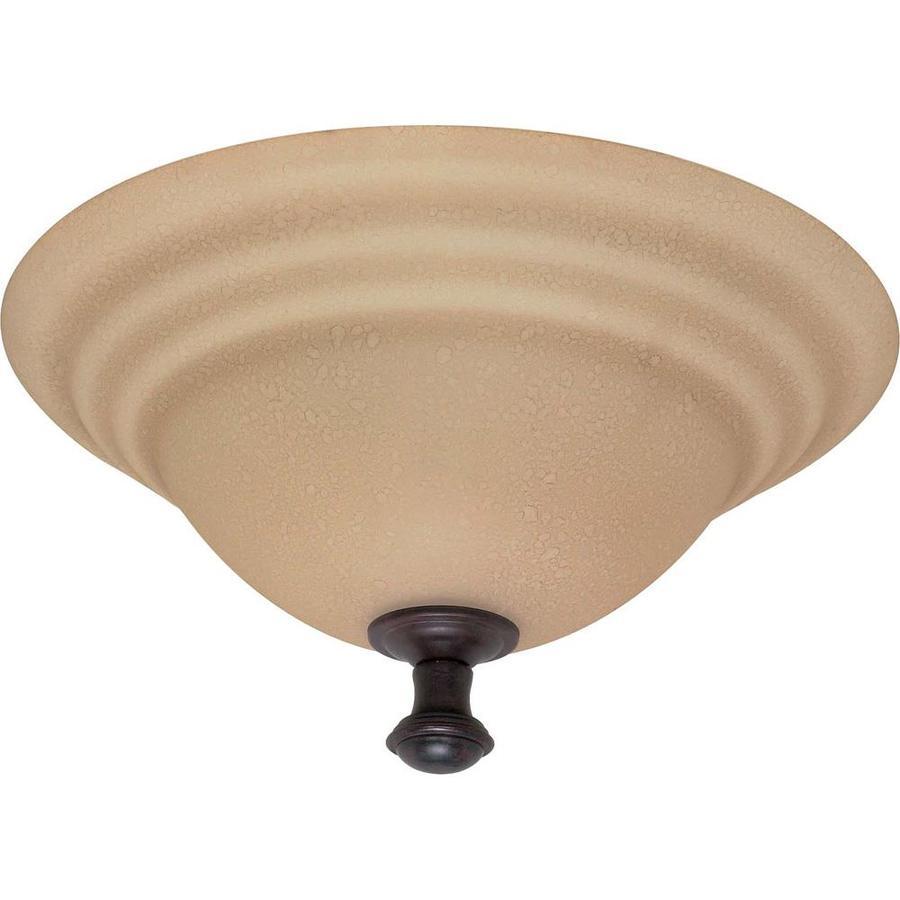 16-in W Old Bronze Ceiling Flush Mount Light