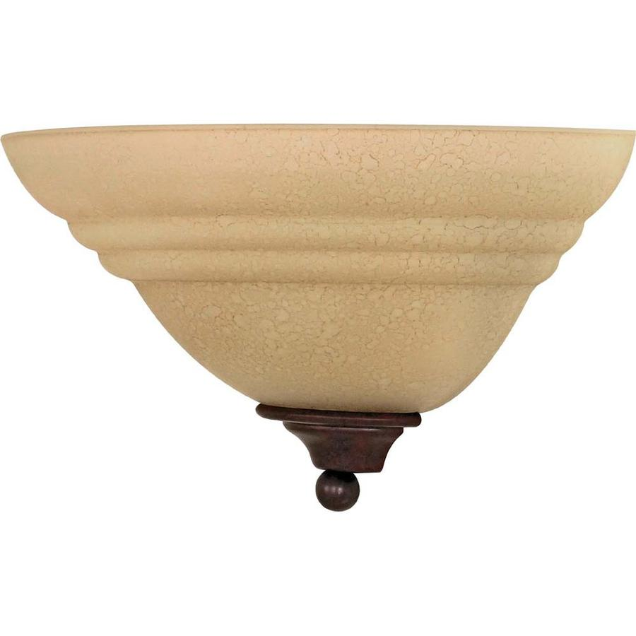 Mericana 14.5-in W 1-Light Old Bronze Pocket Wall Sconce