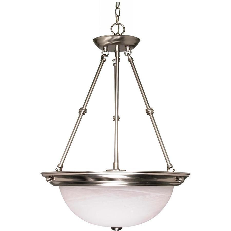 Vanguard 20.5-in Brushed Nickel Single Bell Pendant