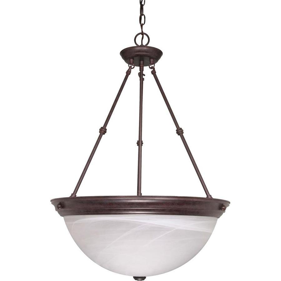 Vanguard 20.5-in Old Bronze Single Bell Pendant