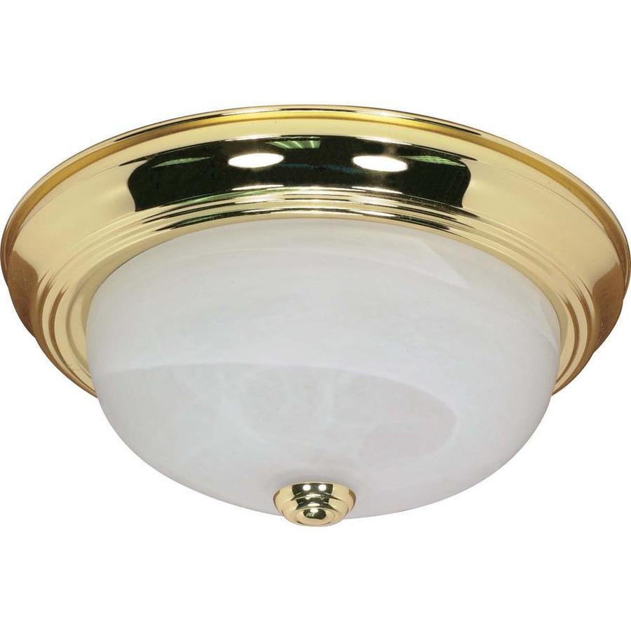 13.12-in W Polished Brass Ceiling Flush Mount Light