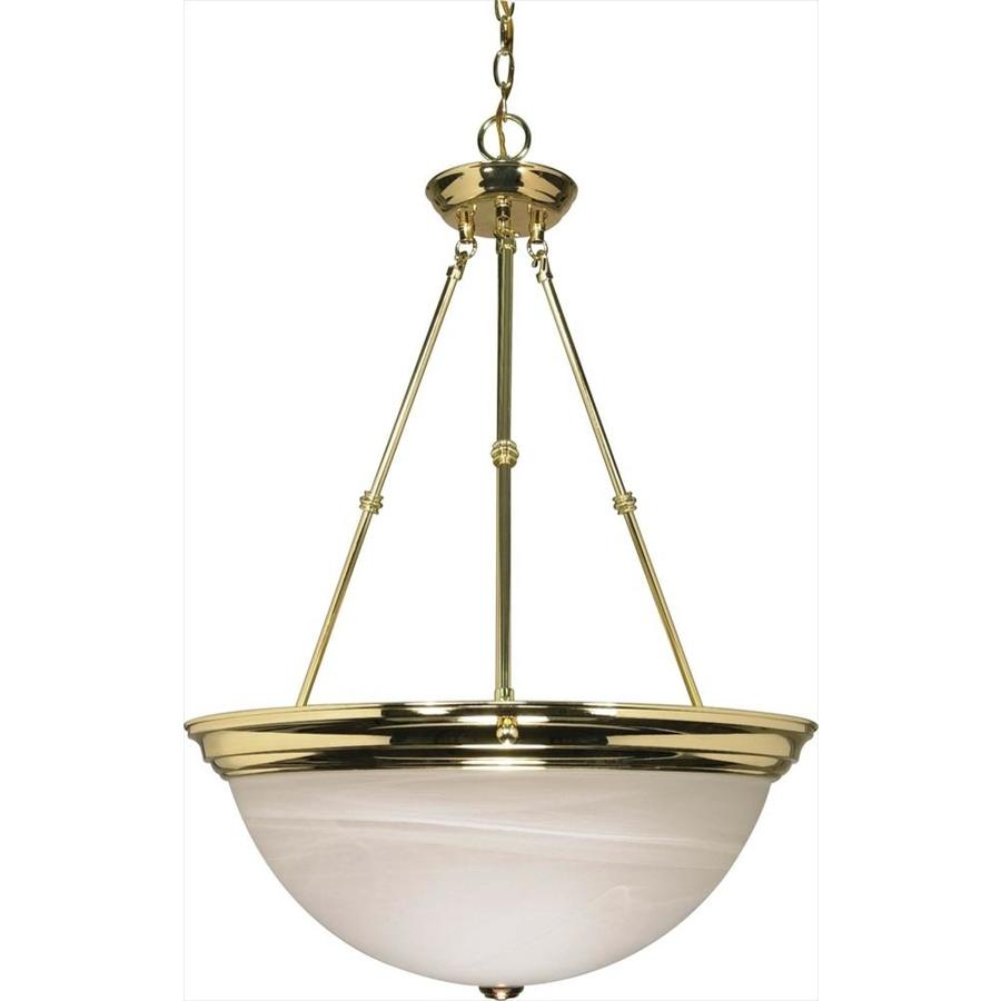 Vanguard 20.5-in Polished Brass Single Bell Pendant