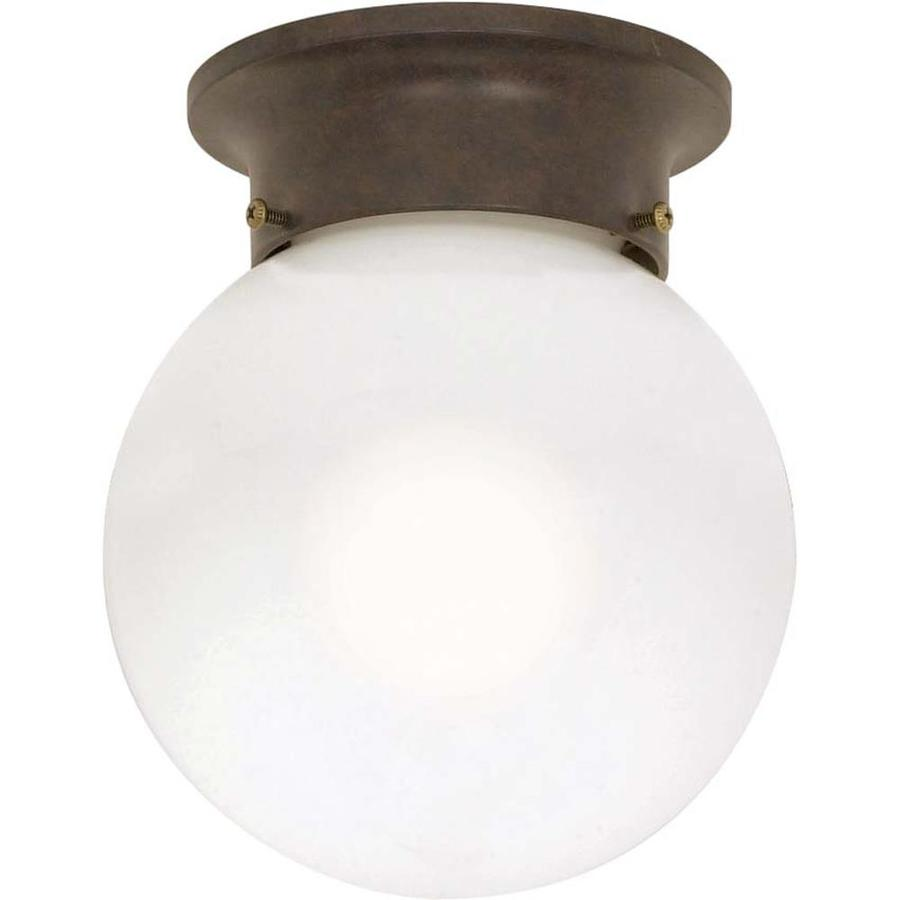 6-in W Old Bronze Ceiling Flush Mount Light