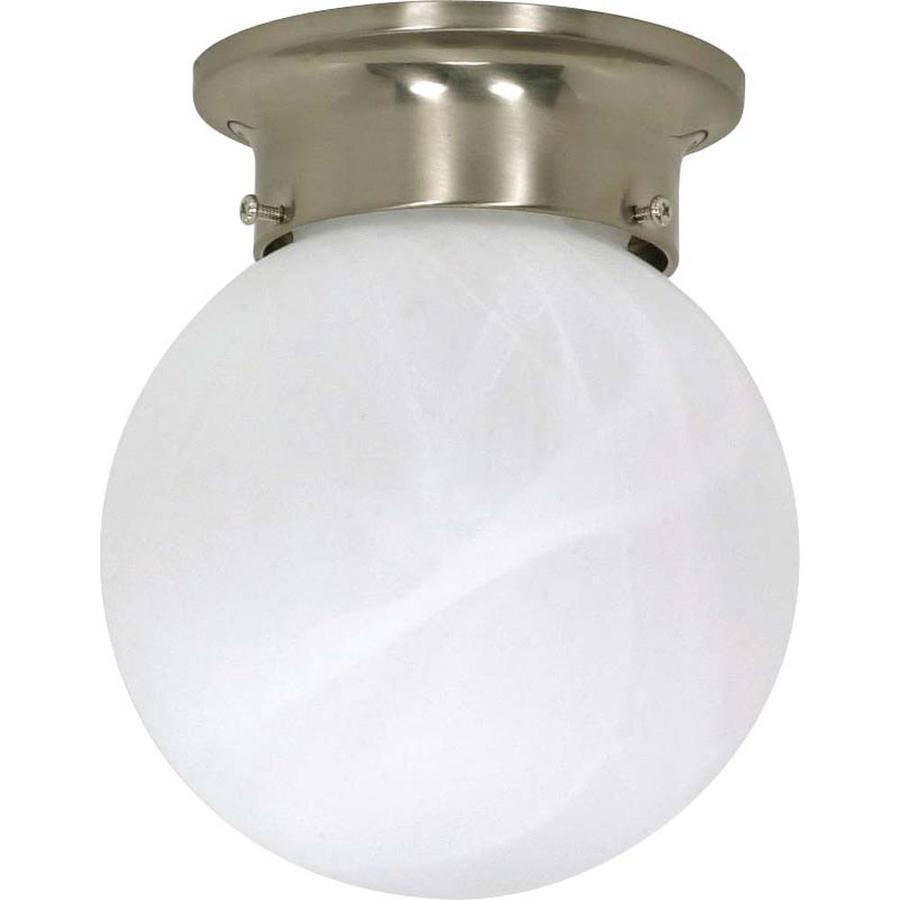 6-in W Brushed Nickel Ceiling Flush Mount Light
