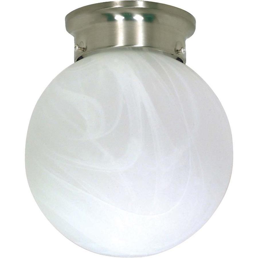 8-in W Brushed Nickel Ceiling Flush Mount Light