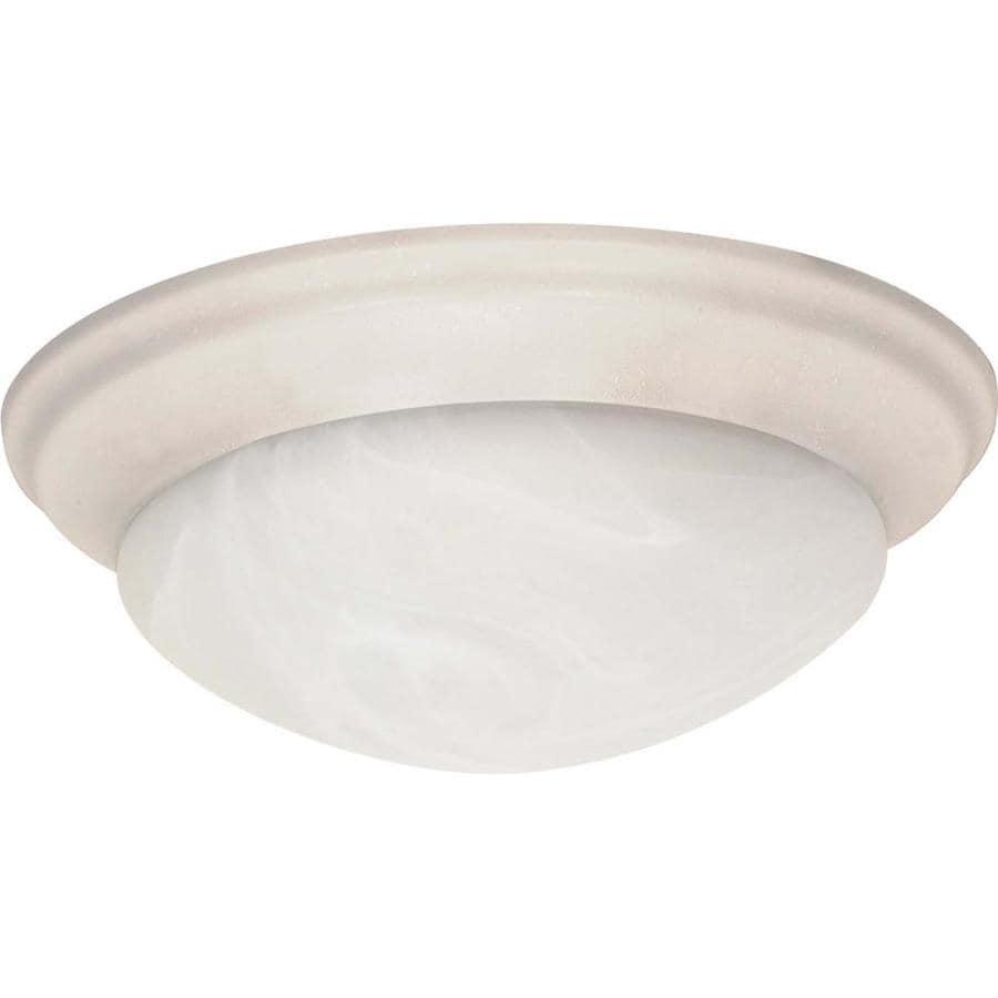 17-in W Textured White Ceiling Flush Mount Light
