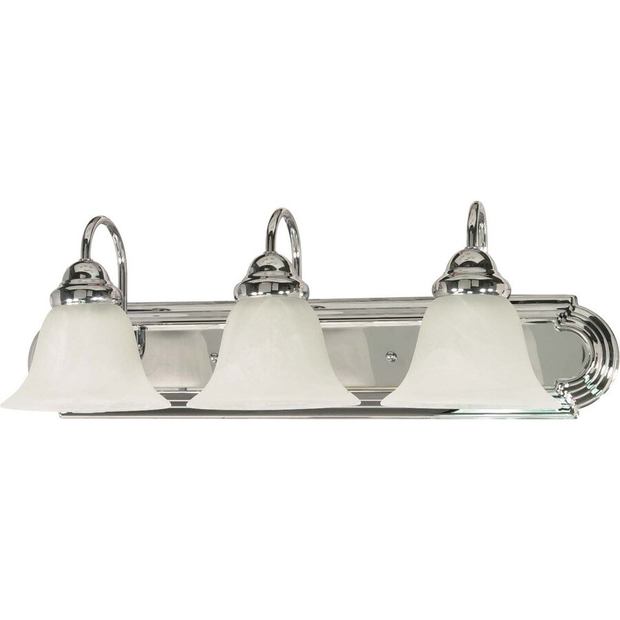 Shop 3-Light Polished Chrome Bathroom Vanity Light at Lowes.com