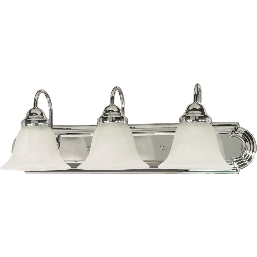 Three Light Bathroom Vanity Light: Shop 3-Light Polished Chrome Bathroom Vanity Light At Lowes.com